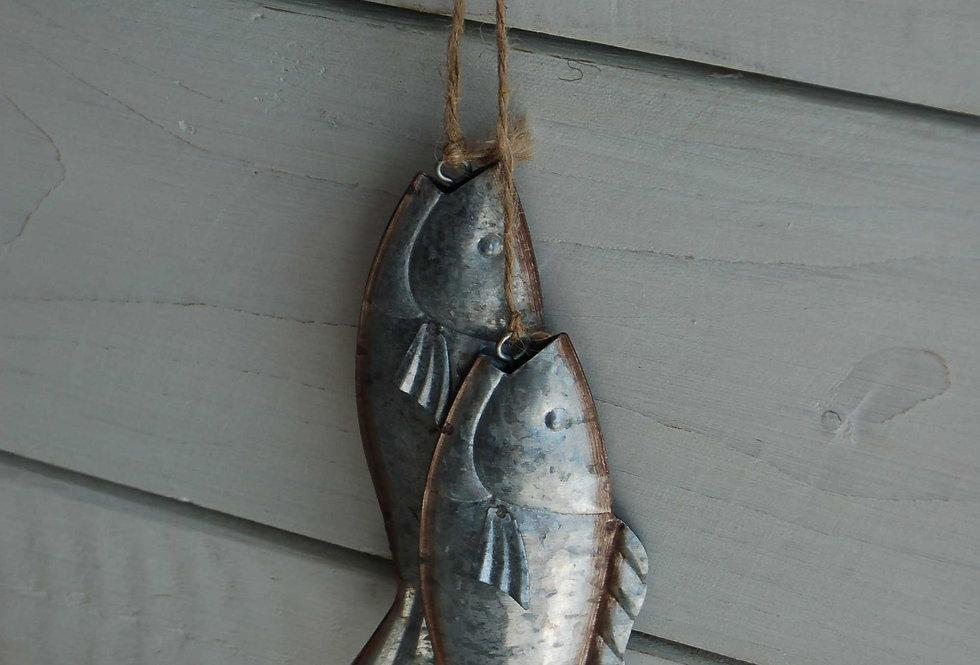 GALVANISED FISH PAIR HANGER