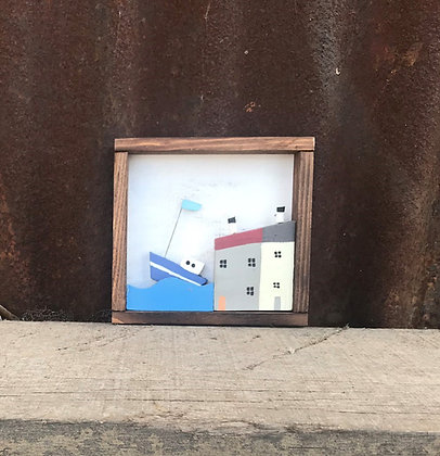 HARBOUR HOUSE BOX FRAME PICTURE