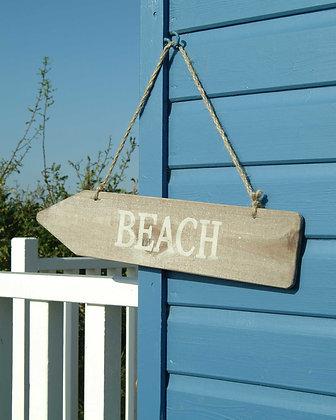 RUSTIC BEACH ARROW SIGN