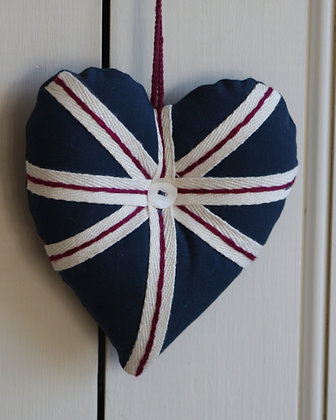 UNION JACK FABRIC HEART
