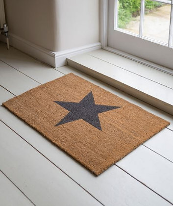 STAR DOORMAT - LARGE - PRE ORDER FOR DELIVERY MID MARCH