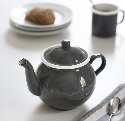 ENAMEL TEA POT - CHARCOAL