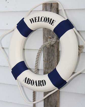 WELCOME BLUE LIFE BUOY