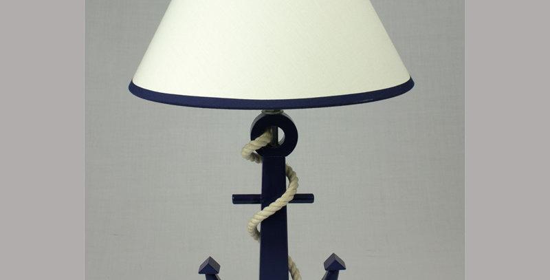 NAUTICAL BLUE ANCHOR LAMP
