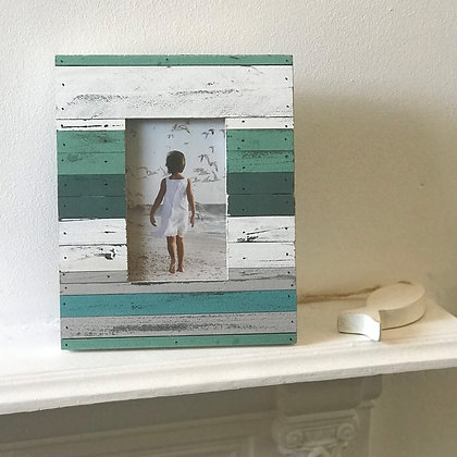 SEA MIST SLATTED PHOTO FRAME