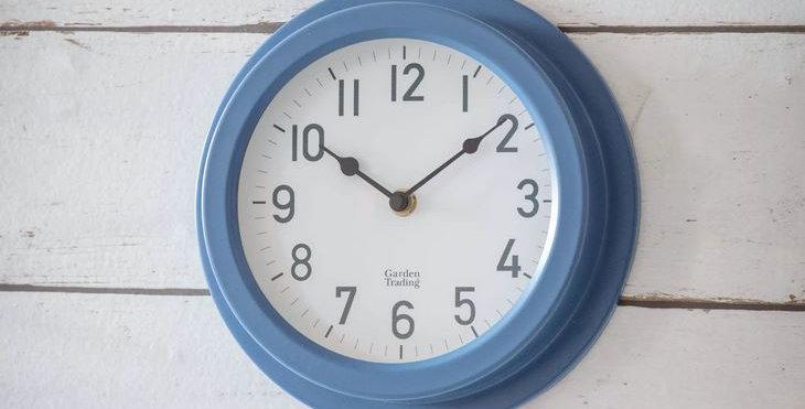 TENBY CLOCK - LULWORTH BLUE
