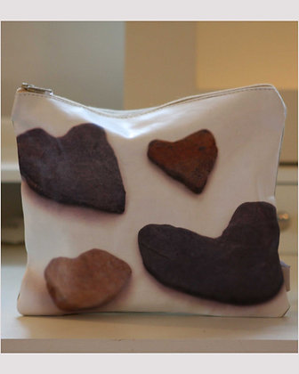 HEART STONES ZIPPED PURSE
