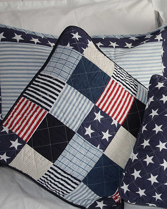 CAPE COD PATCHWORK CUSHION