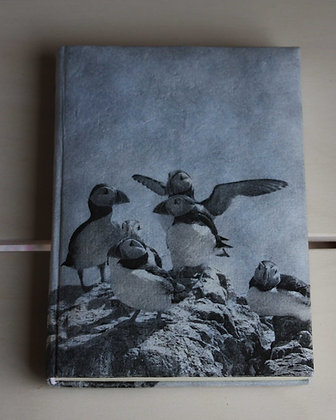 VINTAGE STYLE PUFFIN NOTEBOOK