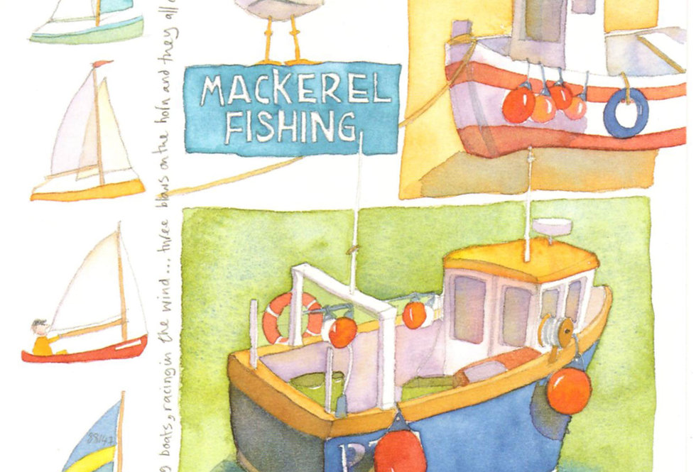 SAILING BOATS CARD BY EMMA BALL