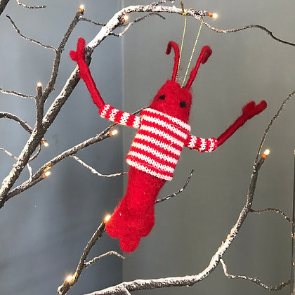 LOBSTER IN JUMPER CHRISTMAS DECORATION