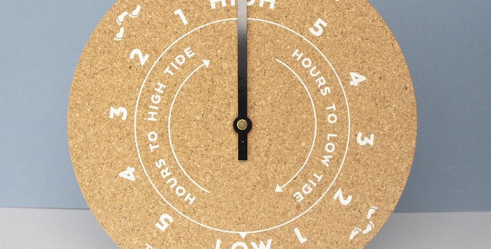 BEACH QUOTE CORK TIDE CLOCK - WHITE