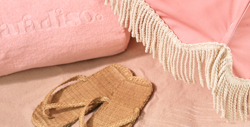 PINK TOWELLING BEACH PILLOW