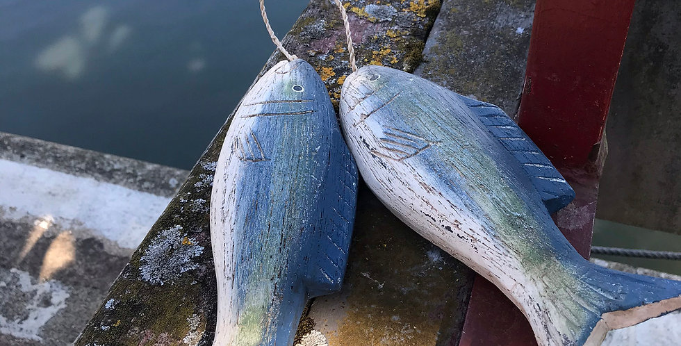 WHITBY BLUE FISH PAIR