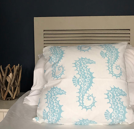 HANDMADE SOFT AQUA SEA HORSE CUSHION