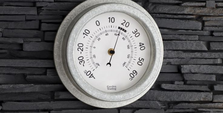 GALVANISED ST IVES THERMOMETER
