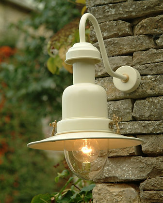OUTDOOR WALL MOUNTED FISHING LIGHT IN CREAM