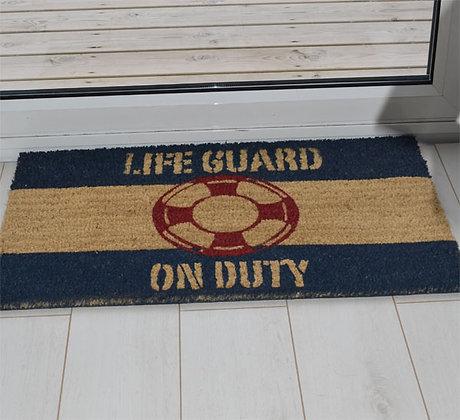LIFEGUARD ON DUTY DOORMAT
