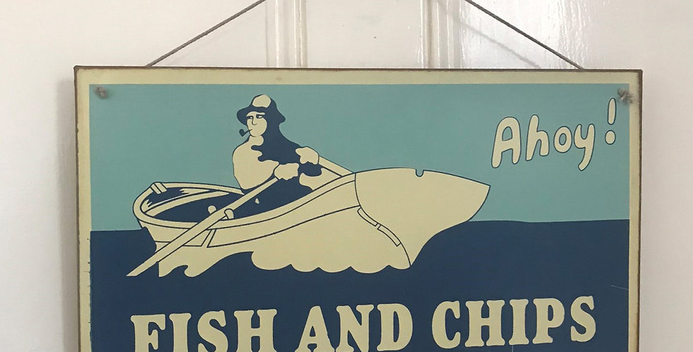 VINTAGE STYLE FISH AND CHIPS SIGN