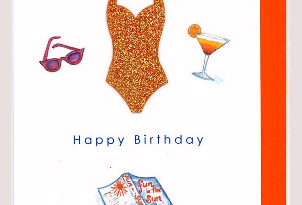 HANDMADE GLITTERY HOLIDAY BIRTHDAY CARD