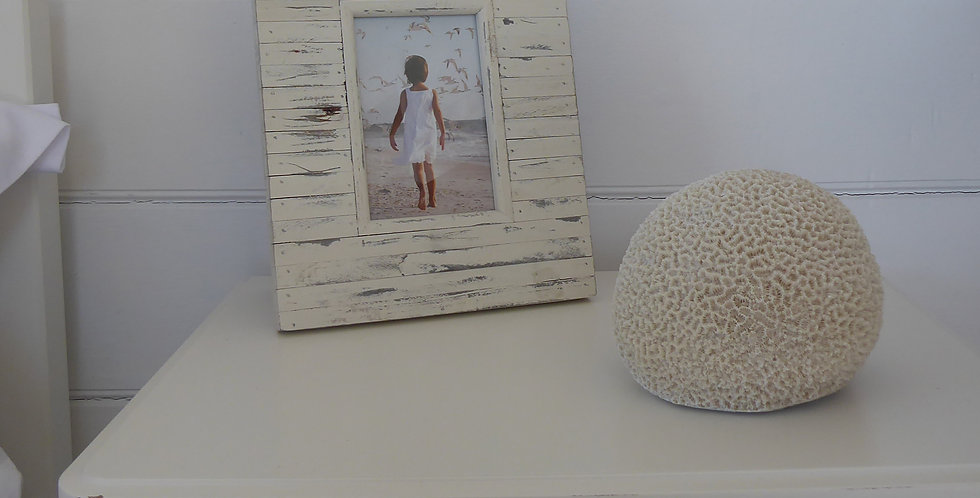 LARGE CORAL BALL RESIN ORNAMENT