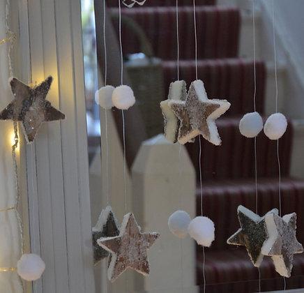 STARS & SNOWBALLS CHRISTMAS GARLAND