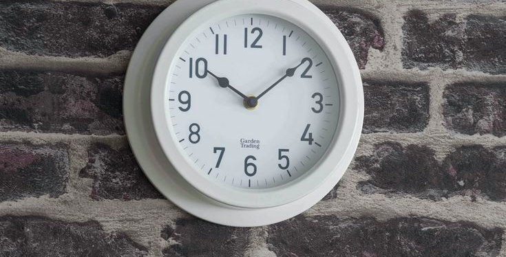TENBY CLOCK - LILY WHITE
