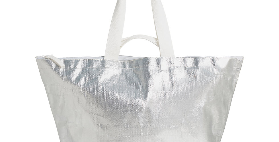 SILVER ECO CARRY ME TOTE