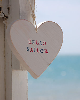HELLO SAILOR HANGING HEART