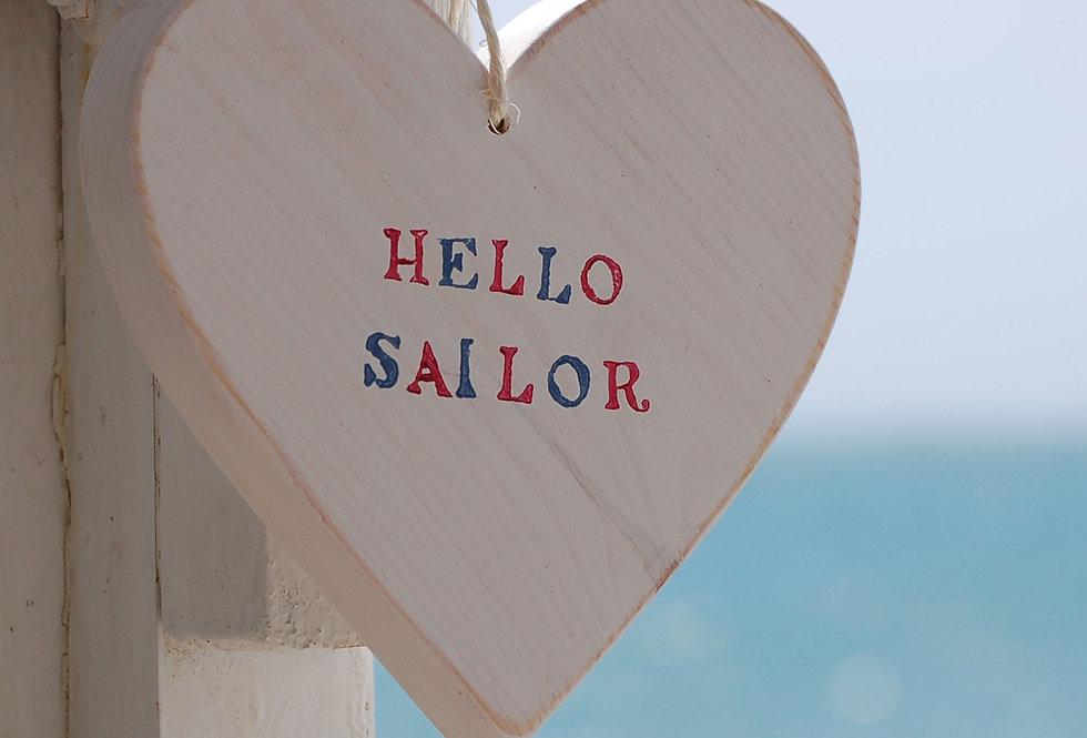 HELLO SAILOR HANGING HEART