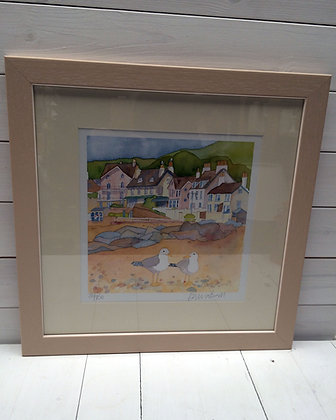 EMMA BALL SIDMOUTH SEAGULLS LIMITED EDITION FRAMED PRINT