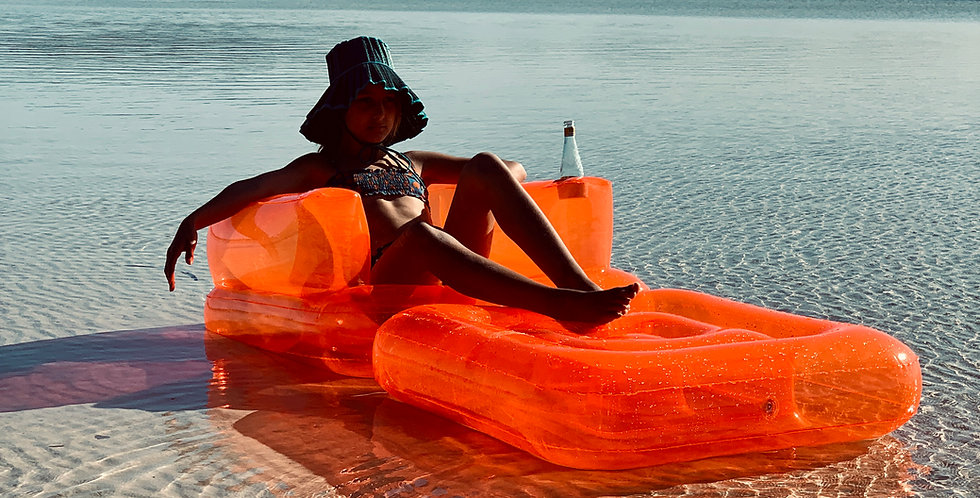 NEON INFLATABLE LILO CHAIR
