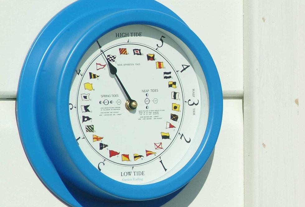 BRIGHT BLUE TIDE CLOCK - SLIGHTLY MARKED