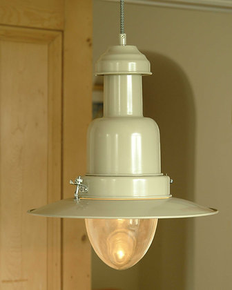 LARGE PENDANT FISHING LIGHT - CHALK