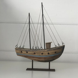 Natural-Wooden-Tug-Boat-On-Stand