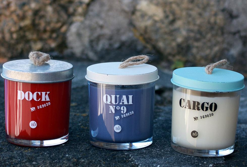 NAUTICAL GLASS JAR CANDLES