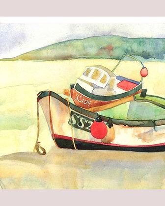 BOATS AT ST IVES CARD BY EMMA BALL