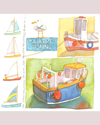 MACKEREL FISHING BOATS BY EMMA BALL