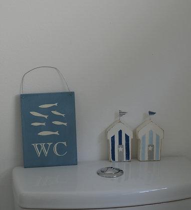 FISH WC BLUE SIGN