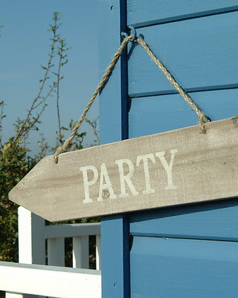 RUSTIC PARTY SIGN
