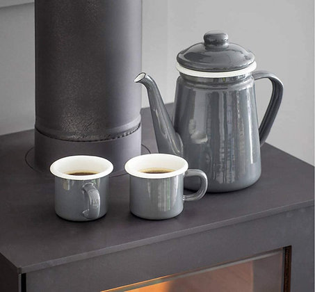 ENAMEL COFFEE POT - CHARCOAL