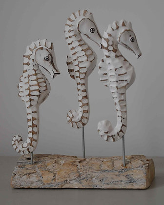 HAND CARVED SEAHORSE FAMILY