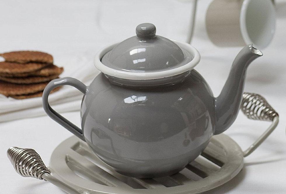 ENAMEL TEA POT - FLINT