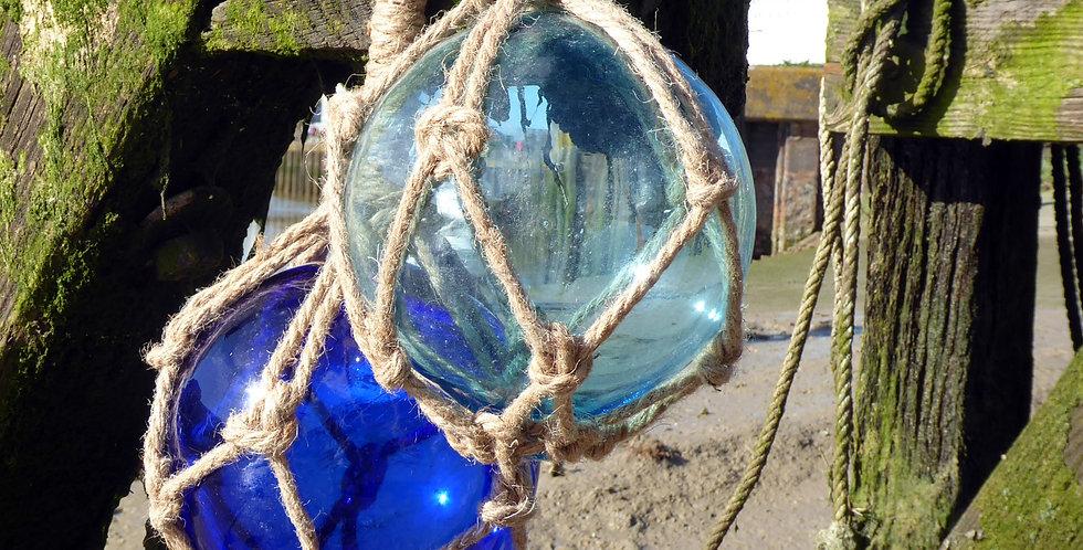 LARGE GLASS FISHING FLOATS