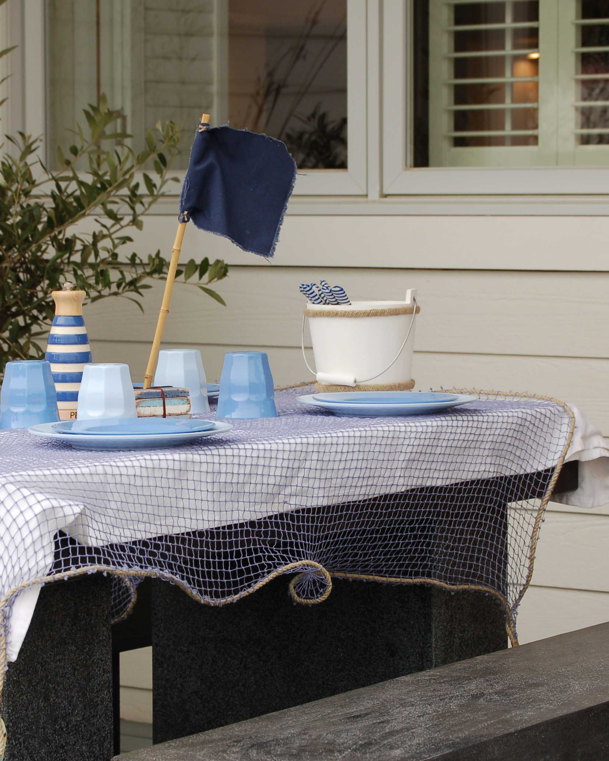 FRENCH FISHING NET TABLECLOTH2