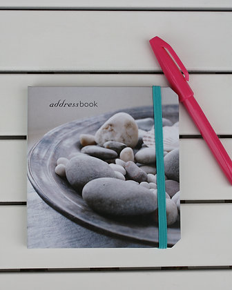 PEBBLE THUMB HOLE ADDRESS BOOK