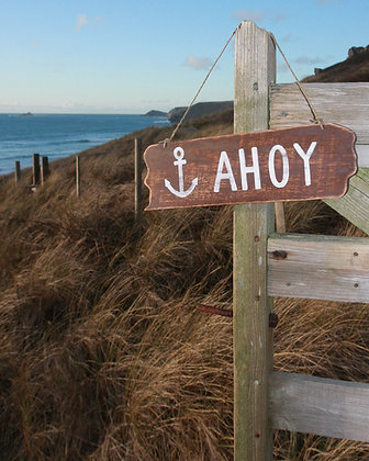 AHOY HANGING SIGN