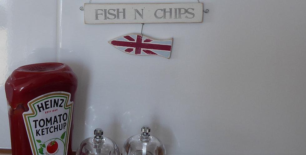 HANDMADE 'FISH 'N' CHIPS' HANGER
