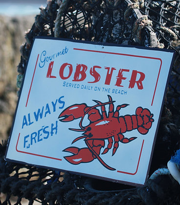 LOBSTER TIN SIGN