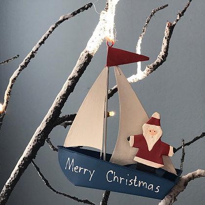 SAILING SANTA CHRISTMAS DECORATION
